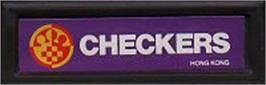 Top of cartridge artwork for Checkers on the Mattel Intellivision.