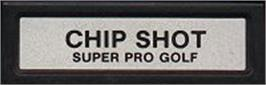 Top of cartridge artwork for Chip Shot: Super Pro Golf on the Mattel Intellivision.