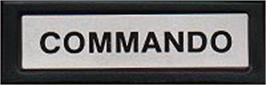 Top of cartridge artwork for Commando on the Mattel Intellivision.
