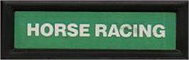 Top of cartridge artwork for Horse Racing on the Mattel Intellivision.
