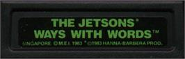 Top of cartridge artwork for Jetsons' Ways With Words on the Mattel Intellivision.