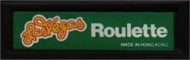 Top of cartridge artwork for Las Vegas Roulette on the Mattel Intellivision.