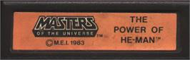 Top of cartridge artwork for Masters of the Universe: The Power of He-Man on the Mattel Intellivision.