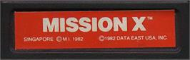 Top of cartridge artwork for Mission-X on the Mattel Intellivision.