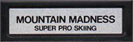 Top of cartridge artwork for Mountain Madness: Super Pro Skiing on the Mattel Intellivision.