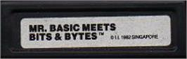 Top of cartridge artwork for Mr. Basic Meets Bits 'N Bytes on the Mattel Intellivision.