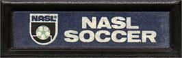 Top of cartridge artwork for NASL Soccer on the Mattel Intellivision.
