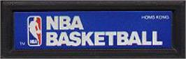 Top of cartridge artwork for NBA Basketball on the Mattel Intellivision.