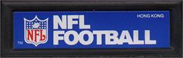 Top of cartridge artwork for NFL Football on the Mattel Intellivision.
