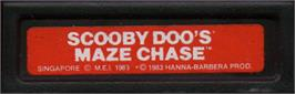 Top of cartridge artwork for Scooby Doo's Maze Chase on the Mattel Intellivision.