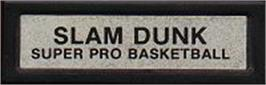 Top of cartridge artwork for Slam Dunk: Super Pro Basketball on the Mattel Intellivision.