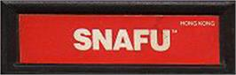 Top of cartridge artwork for Snafu on the Mattel Intellivision.