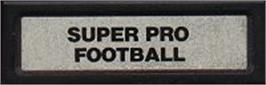 Top of cartridge artwork for Super Pro Football on the Mattel Intellivision.