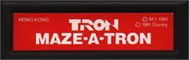 Top of cartridge artwork for TRON: Maze-A-Tron on the Mattel Intellivision.