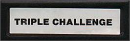 Top of cartridge artwork for Triple Challenge on the Mattel Intellivision.