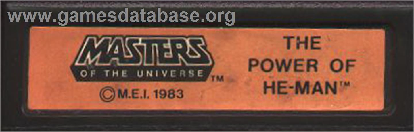 Masters of the Universe: The Power of He-Man - Mattel Intellivision - Artwork - Cartridge Top