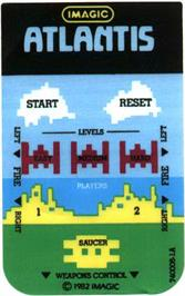 Overlay for Atlantis on the Mattel Intellivision.