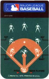 Overlay for Baseball on the Mattel Intellivision.