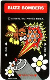 Overlay for Buzz Bombers on the Mattel Intellivision.
