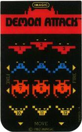 Overlay for Demon Attack on the Mattel Intellivision.