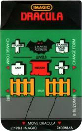 Overlay for Dracula on the Mattel Intellivision.