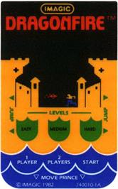Overlay for Dragon Fire on the Mattel Intellivision.