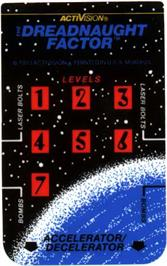 Overlay for Dreadnaught Factor on the Mattel Intellivision.
