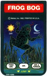 Overlay for Frog Bog on the Mattel Intellivision.