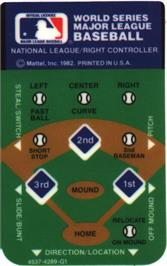 Overlay for Intellivision World Series Major League Baseball on the Mattel Intellivision.