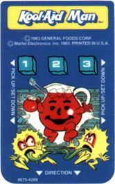 Overlay for Kool-Aid Man on the Mattel Intellivision.