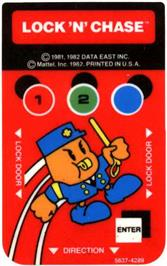 Overlay for Lock'n'Chase on the Mattel Intellivision.