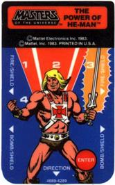 Overlay for Masters of the Universe: The Power of He-Man on the Mattel Intellivision.