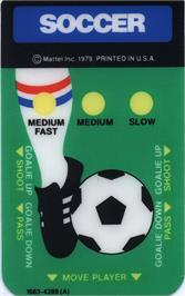 Overlay for NASL Soccer on the Mattel Intellivision.