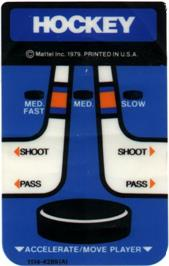 Overlay for NHL Hockey on the Mattel Intellivision.
