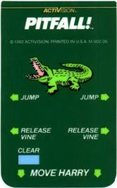 Overlay for Pitfall on the Mattel Intellivision.