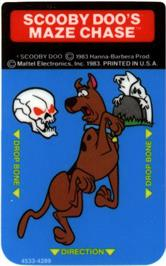 Overlay for Scooby Doo's Maze Chase on the Mattel Intellivision.