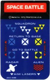 Overlay for Space Cadet on the Mattel Intellivision.