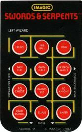 Overlay for Swords and Serpents on the Mattel Intellivision.