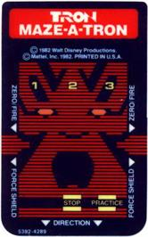 Overlay for TRON: Maze-A-Tron on the Mattel Intellivision.