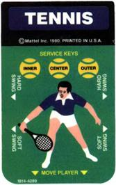 Overlay for Tennis on the Mattel Intellivision.
