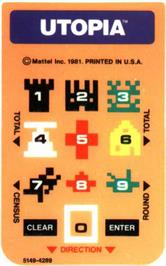 Overlay for Utopia on the Mattel Intellivision.