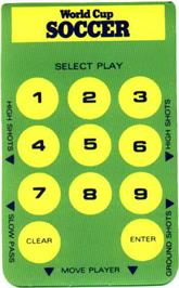 Overlay for World Cup Soccer on the Mattel Intellivision.