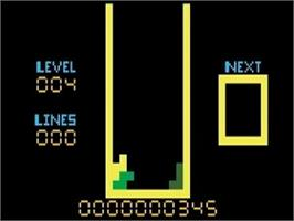 In game image of 4-TRIS on the Mattel Intellivision.