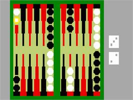In game image of ABPA Backgammon on the Mattel Intellivision.