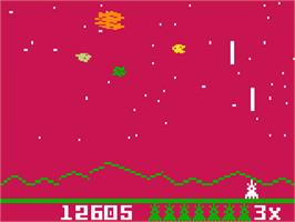 In game image of Astrosmash: Meteor on the Mattel Intellivision.