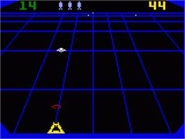 In game image of Beamrider on the Mattel Intellivision.