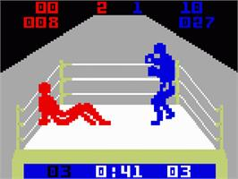 In game image of Boxing on the Mattel Intellivision.