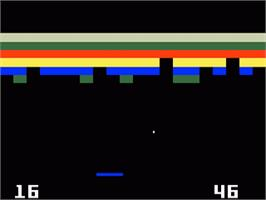 In game image of Brickout on the Mattel Intellivision.