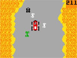In game image of Bump 'n' Jump on the Mattel Intellivision.