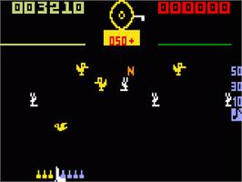 In game image of Carnival on the Mattel Intellivision.